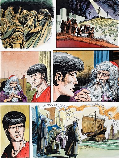 Ben-Hur: Original artwork for a strip based on the book by General Lewis Wallace: L&L no.392 (19 July 1969).