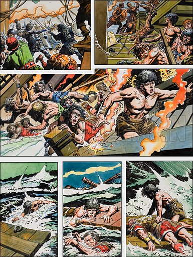 Ben-Hur: Original artwork for a strip based on the book by General Lewis Wallace: L&L no.376 (29 March 1969).