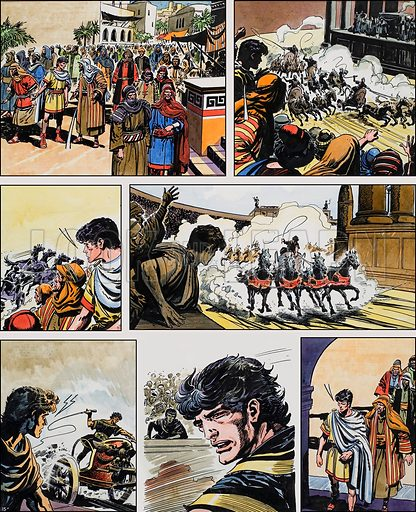 Ben-Hur: Original artwork for a strip based on the book by General Lewis Wallace: L&L no.378 (12 April 1969).