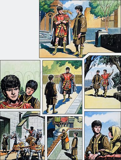 Ben-Hur: Original artwork for a strip based on the book by General Lewis Wallace: L&L no.374 (15 March 1969).