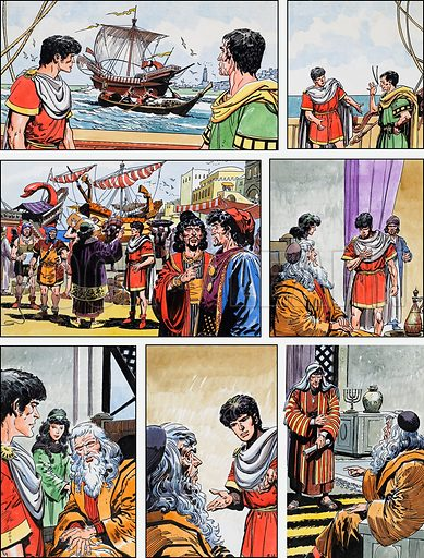Ben-Hur: Original artwork for a strip based on the book by General Lewis Wallace: L&L no.377 (5 April 1969).