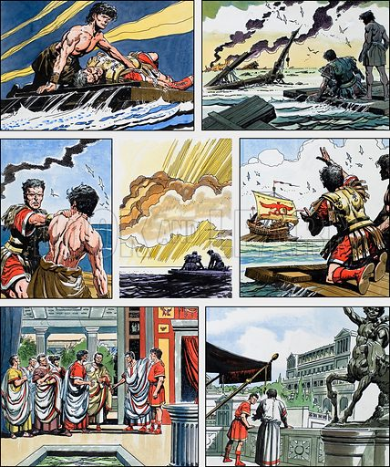 Ben-Hur: Original artwork for a strip based on the book by General Lewis Wallace: L&L no.377 (6 April 1969).