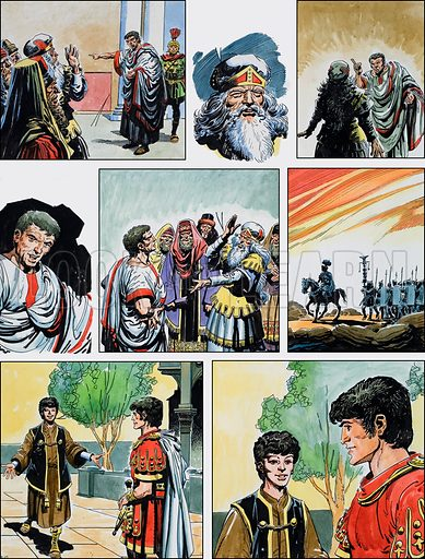 Ben-Hur: Original artwork for a strip based on the book by General Lewis Wallace: L&L no.373 (8 March 1969).