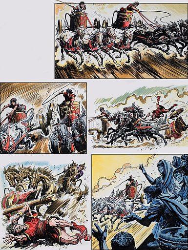 Ben-Hur: Original artwork for a strip based on the book by General Lewis Wallace: L&L no.383 (17 May 1969).
