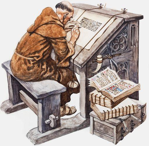 Monks, picture, image, illustration