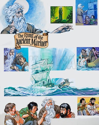 Continuation of the poem The Rime of the Ancient Mariner by Samuel Taylor Coleridge. Original artwork for the illustrations on p11 of Look and Learn issue no. 314 (20 January 1968).