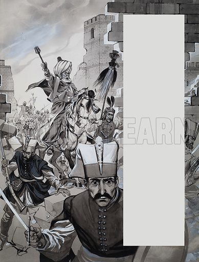 The Fall of Constantinople by E.R. Chamberlin. Under Constantine XI's leadership the city held out day after day for nearly two months. But on  29th May, 1453, the Turks broke in.