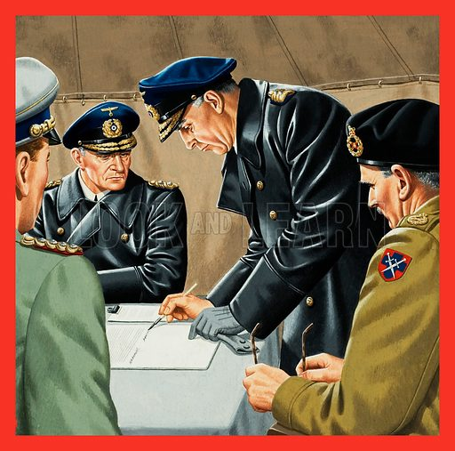 German surrender, picture, image, illustration