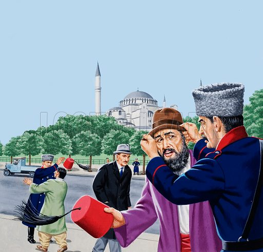 Replacing the traditional fez in Turkey - Look and Learn