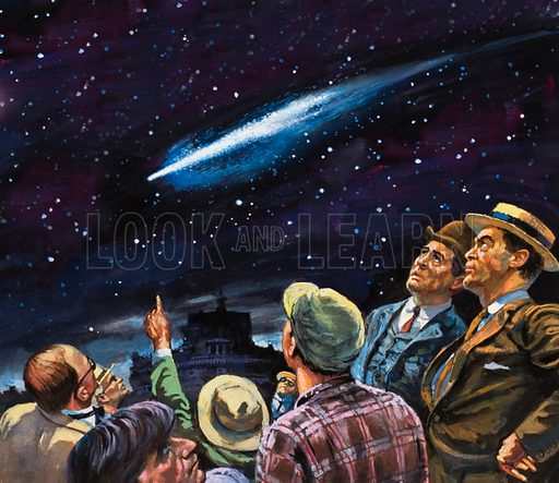 Halley's comet, picture, image, illustration