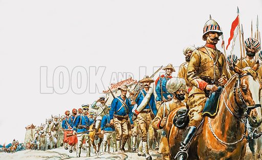 The Boxer Rebellion. The eight-nation relief force reached the city with Sikhs, Americans, Japanese, French Zouaves and Cossacks leading the way.