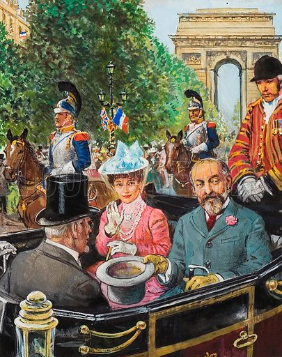 Edward VII was coolly received by the Parisians, but they soon warmed to him and his Queen.