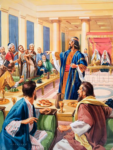 wedding feast, picture, image, illustration