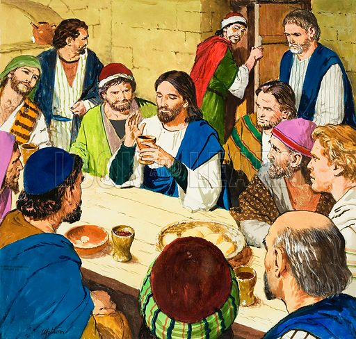 The Amazing Love of Jesus: The Last Supper. Original artwork for illustration on p9 of Treasure issue no 245.