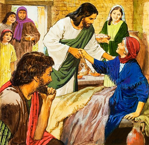 The Amazing Love of Jesus: The Sick Woman. Original artwork for illustration on p9 of Treasure issue no 242.