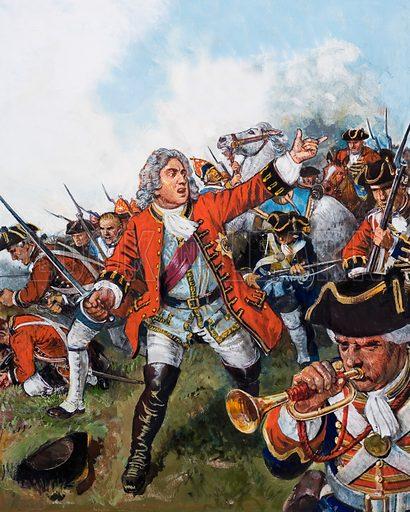 George II at Dettingen,  picture, image, illustration