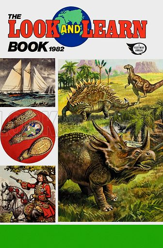 Cover of Look and Learn Book 1982. Original artwork. Lent by The Gallery of Illustration.