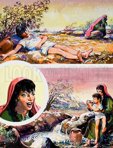 Story of Abraham.  Original artwork for illustration on p7 of The Bible Story issue no 12 (23 May 1964).  Lent for scanning by The Gallery of Illustration.