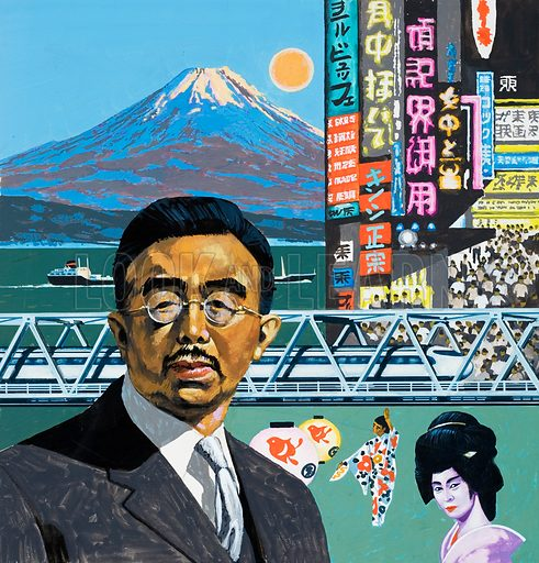 Modern Japan. Original artwork for Look and Learn (issue yet to be identified).