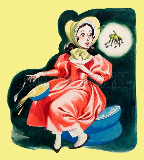 Little Miss Muffet. Original artwork for Jack and Jill (issue yet to be identified).