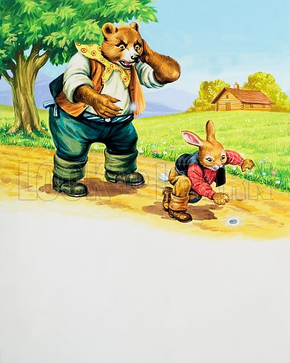 Brer Rabbit.  Original artwork for illustration on p6 of Once Upon a Time issue no 165.  Lent for scanning by the Illustration Art Gallery.