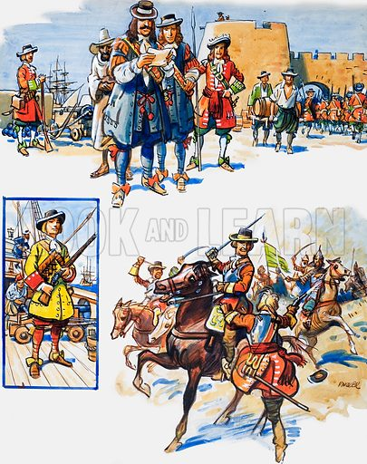 The Army's First Battle Honour.  Original artwork for illustration on p36 of Ranger issue of 14 May 1966.