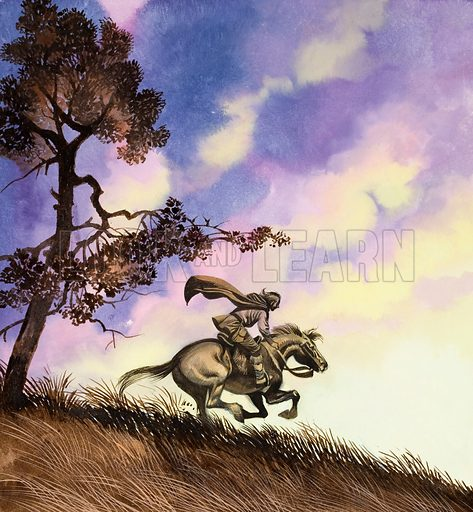 Fairy tale. Original artwork for illustration in Once Upon a Time (issue yet to be identified).