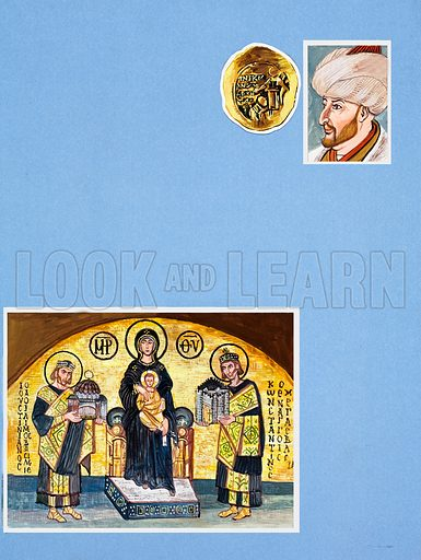 Byzantium. Original artwork for Look and Learn (issue yet to be identified).