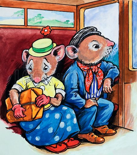 The Town Mouse and the Country Mouse. Original artwork for Once Upon a Time.