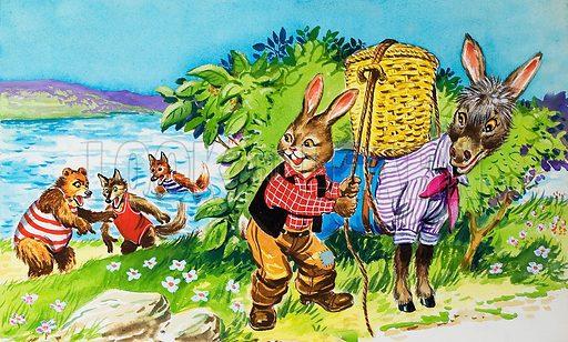 Brer Rabbit. Original artwork for illustration in Once Upon a Time issue no 146.