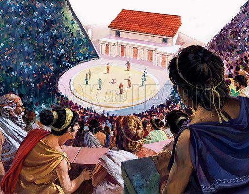 Greek theatre, picture, image, illustration