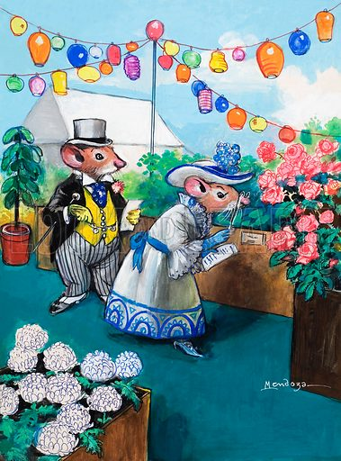 Flower Show (illustration, picture: Philip Mendoza)