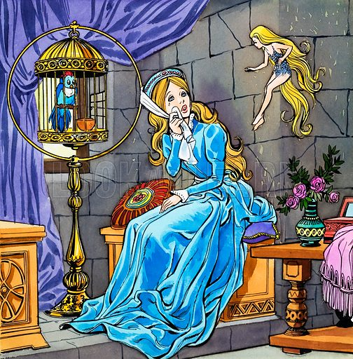 Girl crying. Original artwork for Once Upon a Time.