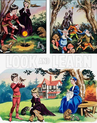 Nursery scenes.  Original artwork for illustrations on p73 of Teddy Bear annual 1980.  Lent for scanning by the Illustration Art Hallery.