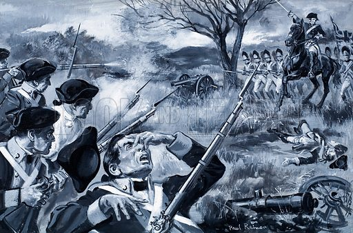 "Who Said…? ""If I were an American, as I am an Englishman, while a foreign troop was landed in my country, I never would lay down my arms – never – never – never!"" William Pitt at the House of Lords in November 1777. Original artwork for illustration on p11 of Look and Learn issue no 271."