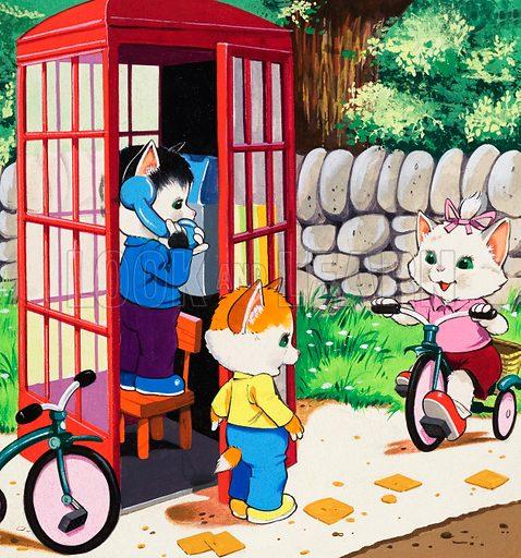 Kitten cats.  Original artwork.  Lent for scanning by the Illustration Art Gallery.