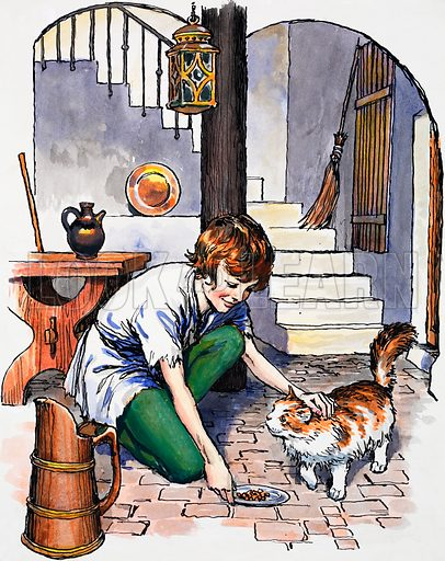 Boy with cat.