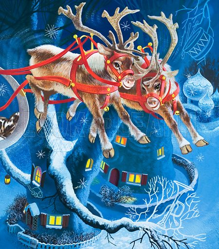 Reindeer. Lent for scanning by the Illustration Art Gallery.