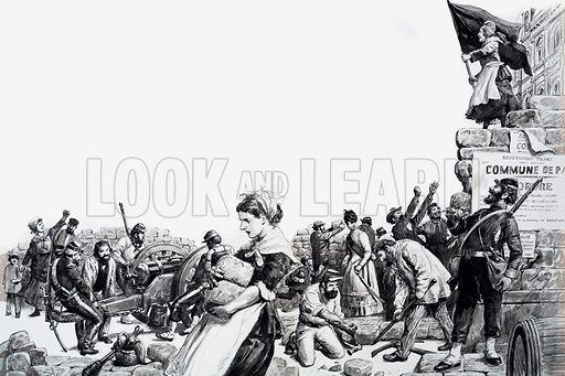 Paris Commune. Original artwork for illustration on pp4-5 of L&L no. 559 (30 September 1972).