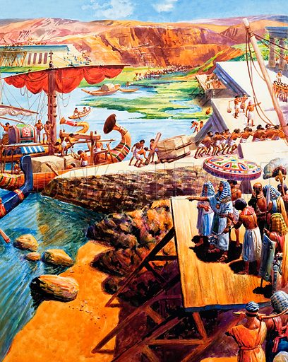 Construction in ancient Egypt Original artwork for Ranger.