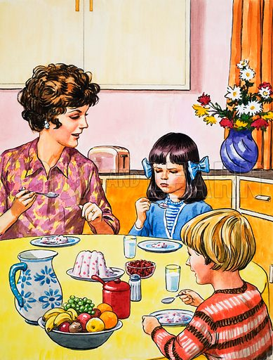 Pudding.  Original artwork for Teddy Bear issue of 2 April 1972.  Lent for scanning by the Illustration Art Gallery.