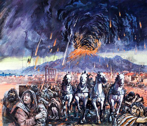 Eruption of Vesuvius and destruction of Pompeii, 79