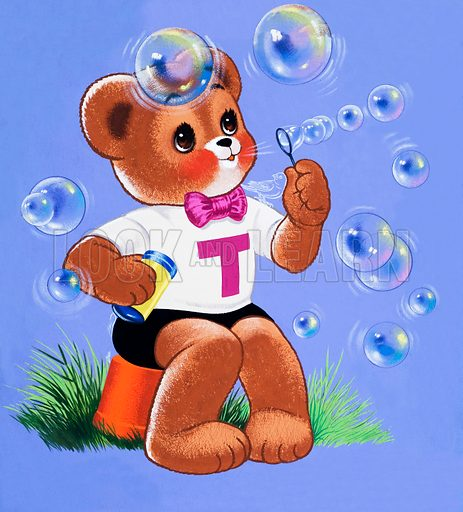 Teddy Bear.  Original artwork for Teddy Bear.  Lent for scanning by the Illustration Art Gallery.  Hidden objects removed. Professionally re-touched.