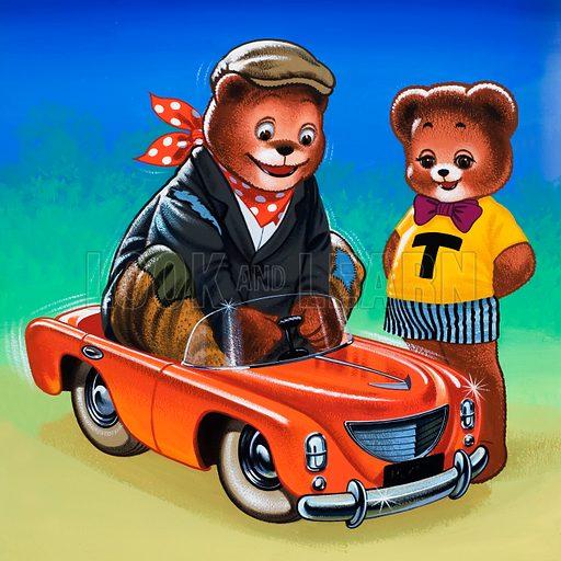 Teddy Bear. Original artwork for Teddy Bear. Hidden objects removed.