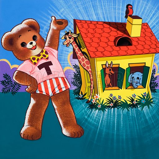 Teddy Bear. Original artwork for Teddy Bear. Hidden objects have been removed.