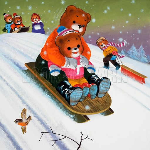 Teddy Bear. Original artwork for Teddy Bear. Hidden objects hve been removed.