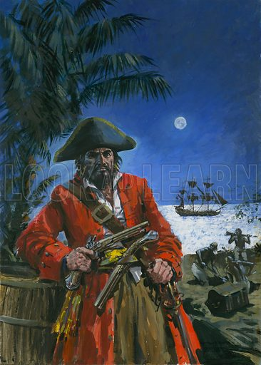 Blackbeard, notorious 18th Century English pirate.
