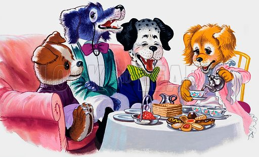 The Jolly Dogs. Original artwork for Once Upon a Time.