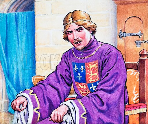 A Man For the Throne: Talk of Treason. The Story of Henry Bolingbroke. Detail from Look and Learn no. 357 (16 November 1968). Original artwork loaned for scanning by the Illustration Art Gallery.