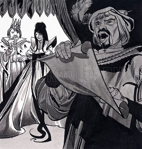 The Runaway Princes. From Robin no.3. Original artwork loaned for scanning by the Illustration Art Gallery.